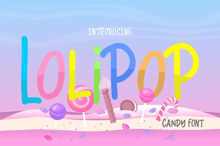Thumbnail for Lolips | Caramelo Funny Font