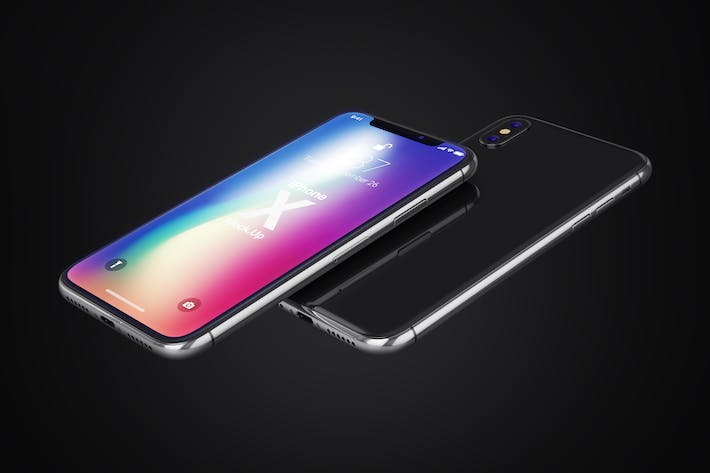 Thumbnail for Phone X Realistic Mock-Ups