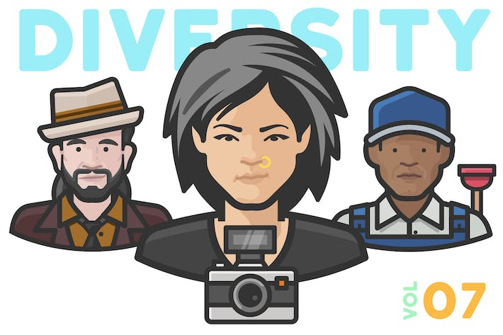 Thumbnail for Diversity Avatars v2 - Volume 07