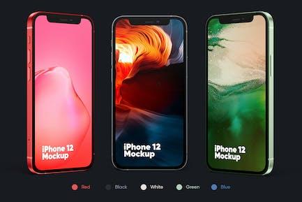 iPhone 12 (All Colors) Mockup