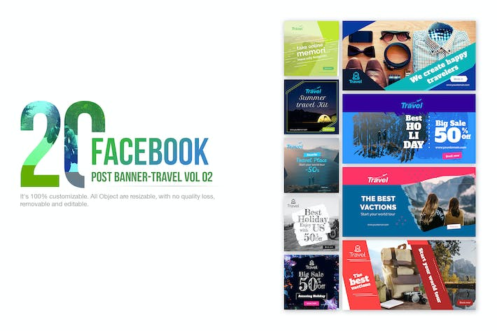 Cover Image For 20 Facebook Post Banner - Travel02