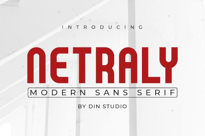 Thumbnail for Netraly-Modern Sans Serif Font