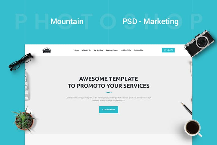 Thumbnail for Mountain - Marketing PSD Template