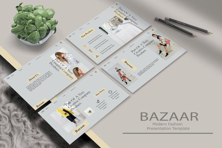 Thumbnail for Basar - PowerpoinVorlage für moderne Mode