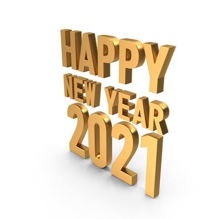 Happy New Year 2021 Symbol Gold