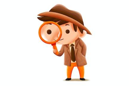 Detective Profession — Kids Illustration