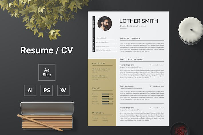 Thumbnail for Resume Template 161