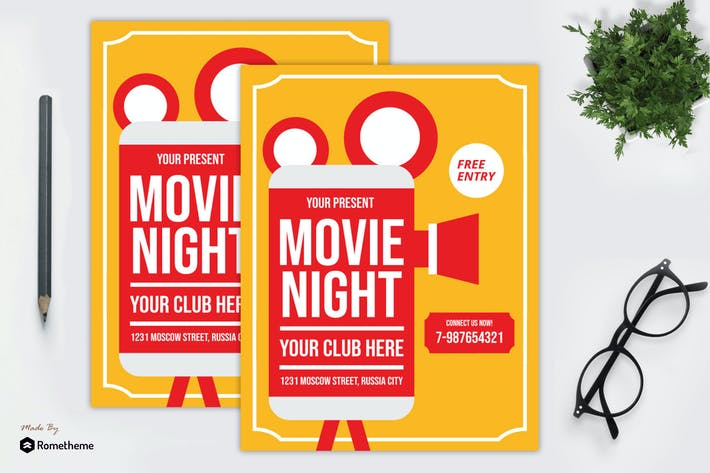 Thumbnail for Movie Night Flyer vol. 03 MR