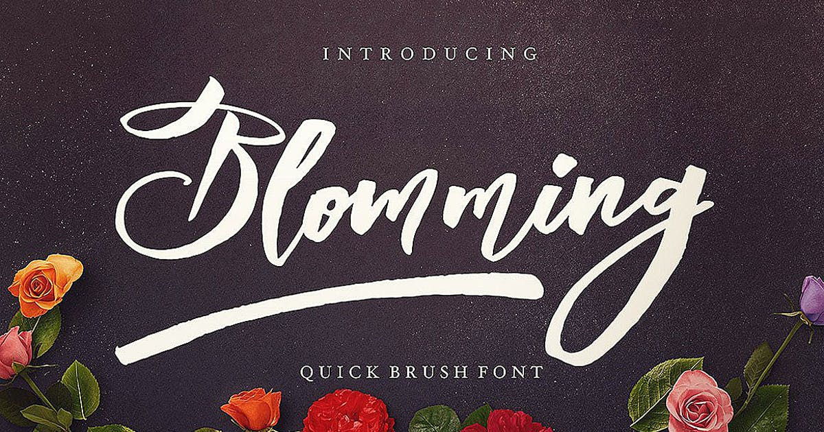 Download Blomming - Brush Font by cruzine