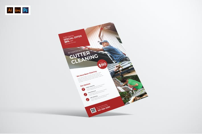 Thumbnail for Gutter Cleaning Service Flyer Design
