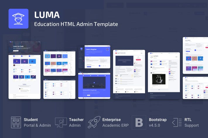 Thumbnail for Luma - Education HTML Learning Management System