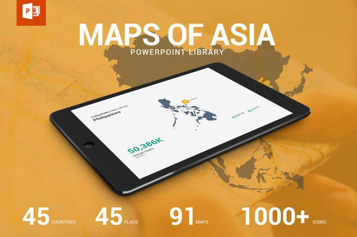 Thumbnail for Map and Flag of Asia Library