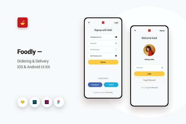 Thumbnail for Foodly - Ordering Delivery iOS & Android UI Kit 6