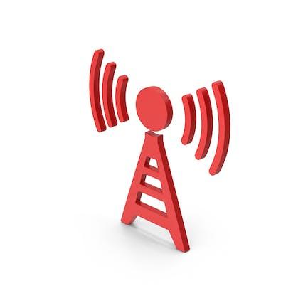 Symbol Antenna Red