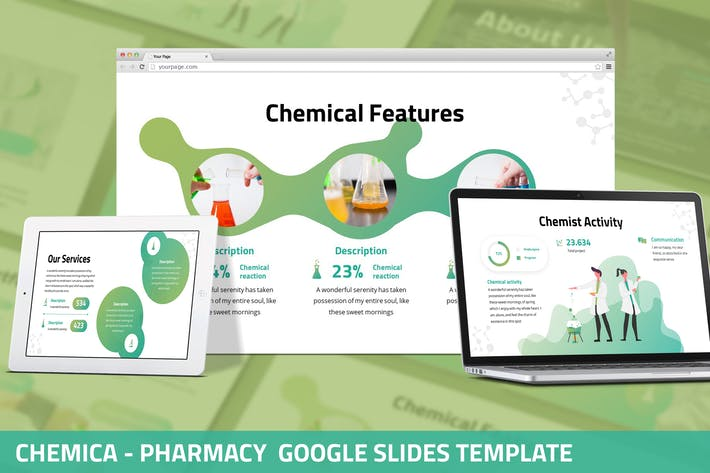 Cover Image For Chemica  - Pharmacy Google Slides Template