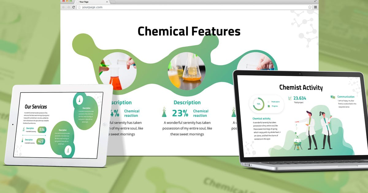 Download Chemica  - Pharmacy Google Slides Template by SlideFactory