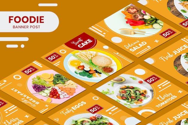 Food Fresh Juice Social Media Post Templates