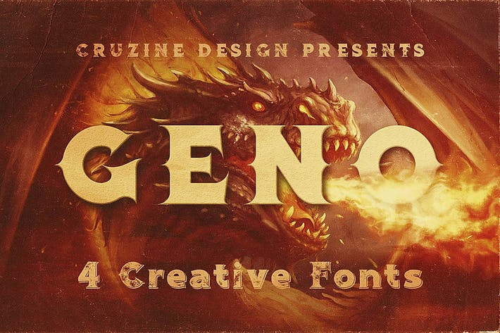 Thumbnail for Geno Typeface