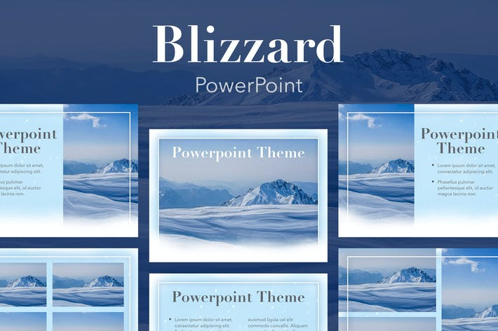 Thumbnail for Blizzard PowerPoint Template