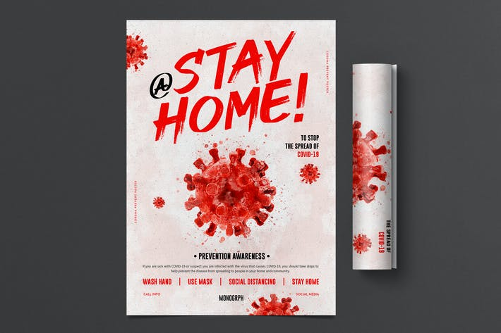 Thumbnail for Corona Stay At Home Poster