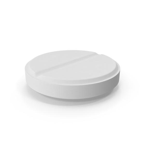 Белая таблетка (Плоская на поверхности)