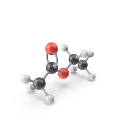 Ethyl Acetate Molecule