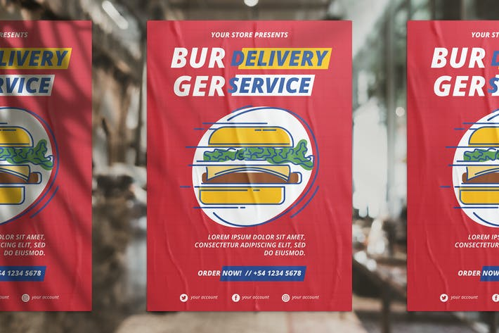 Cover Image For Burger Delivery Flyer