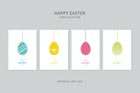 Happy Easter Vector Card Set