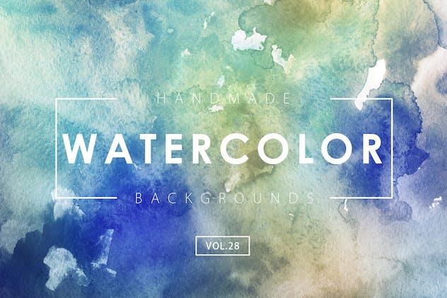Handmade Watercolor Backgrounds Vol.28