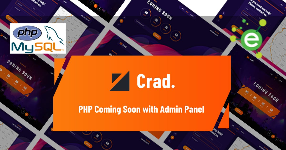 Download Crad - PHP Coming Soon with Admin Panel by envalab