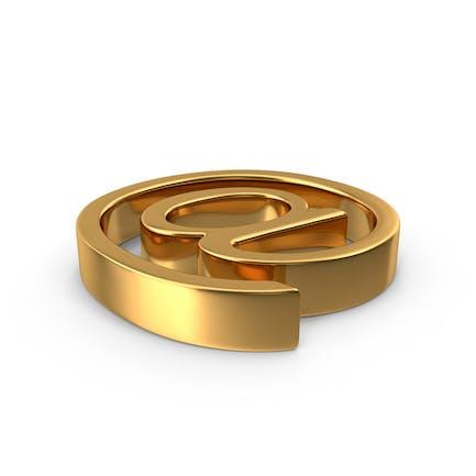 Símbolo de oro en