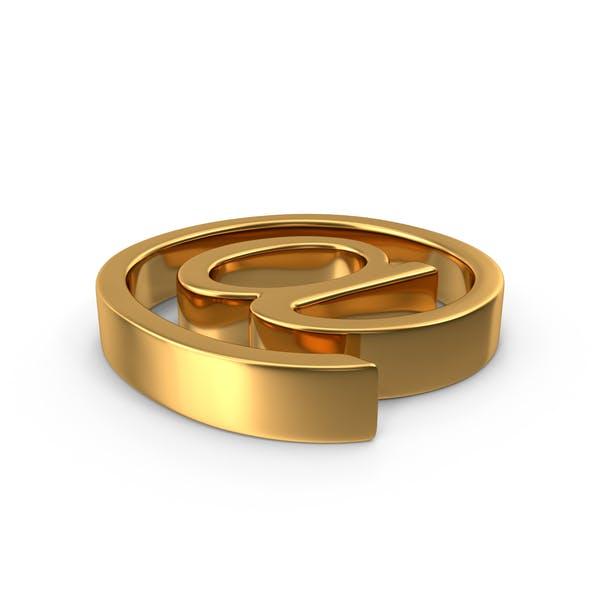Золото В символ