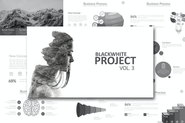 Thumbnail for Black White Project Vol. 3 Powerpoint