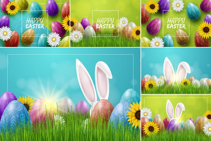 Thumbnail for Colorful Easter Backgrounds