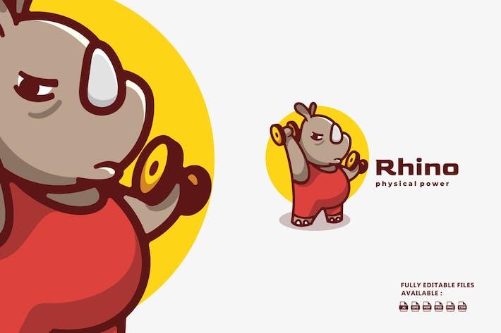 Rhino Cartoon Logo