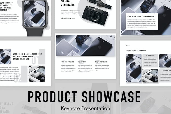 Thumbnail for Product Showcase Keynote Template