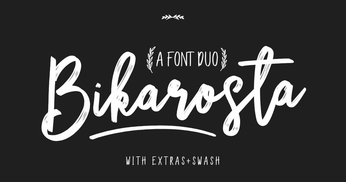 Bikarosta Typeface by maulanacreative