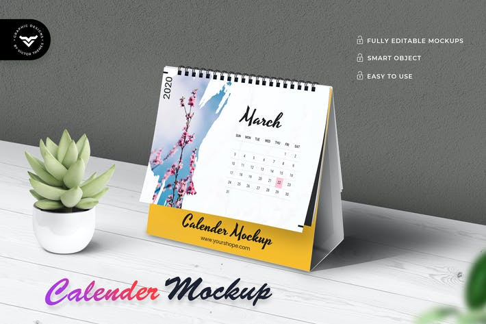 Thumbnail for Calendar Mockup Template