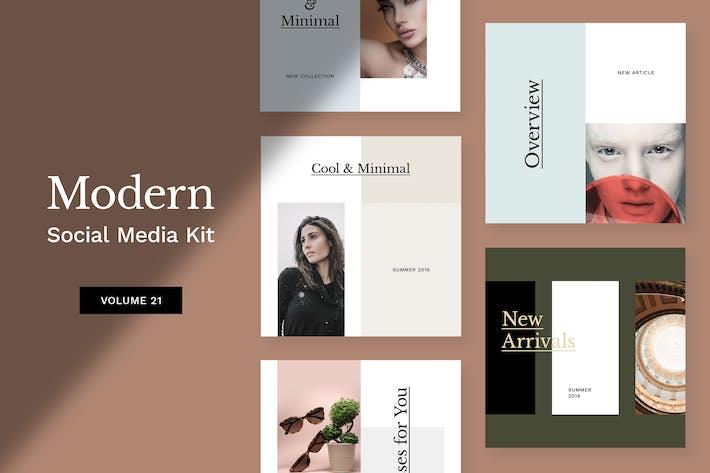 Cover Image For Modern Social Media Kit (Vol. 21)