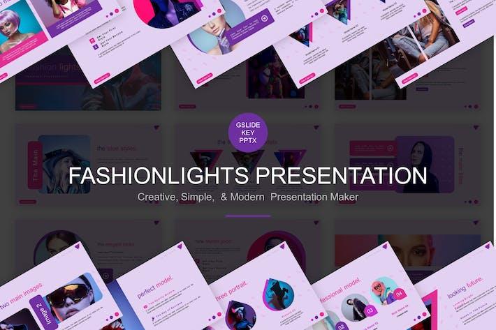 Thumbnail for Mode-Lichter PräsentationsVorlage