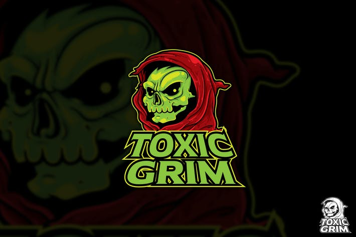 Thumbnail for Toxic Grim Esport Vector Logo Mascot