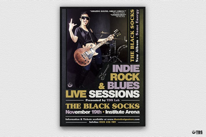 Thumbnail for Live Sessions Flyer Template