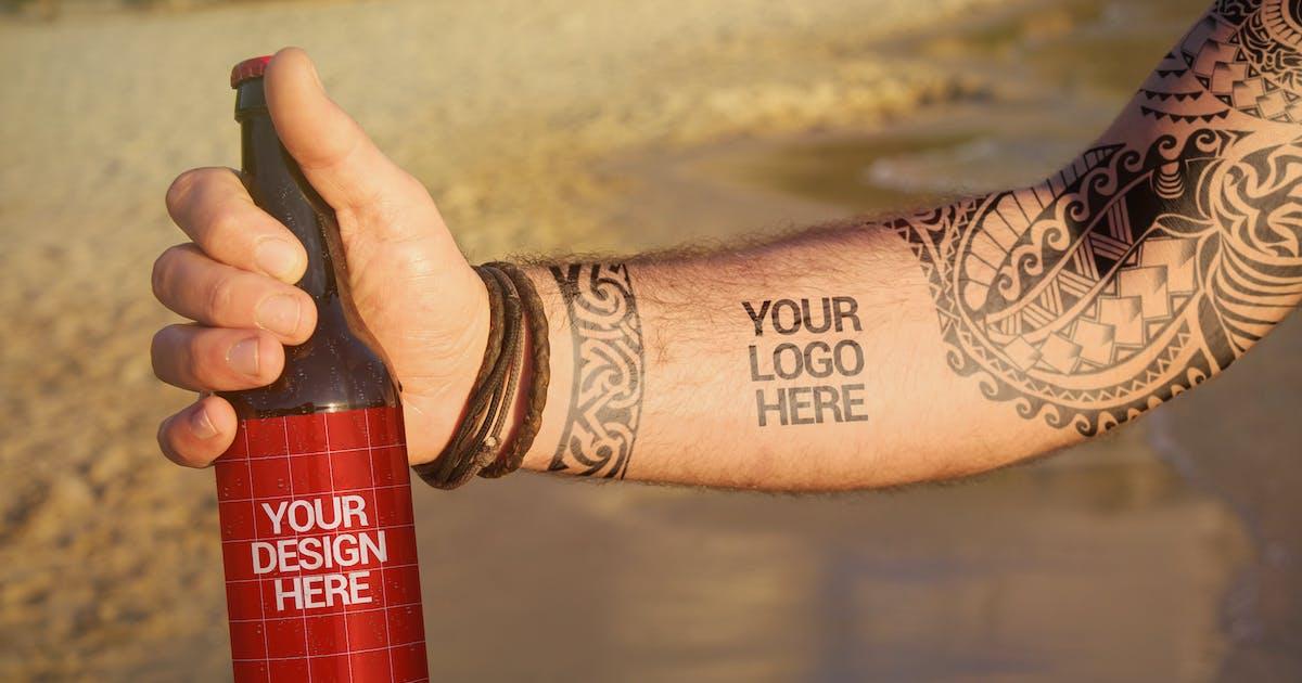Download Beach Beer Tattoo Style   Logo by SmartDesigns_eu