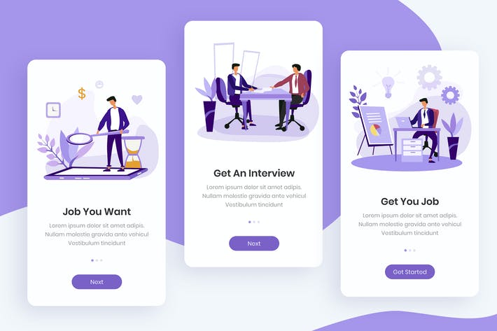 Thumbnail for Recruitment Onboarding App Screens