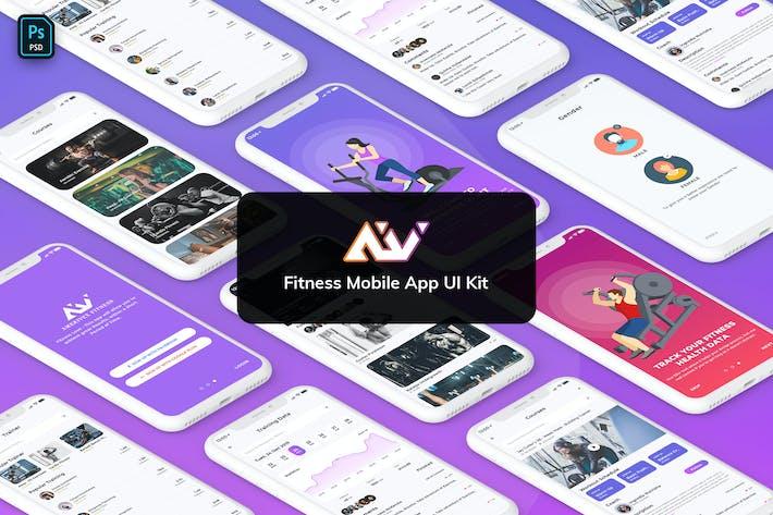 Thumbnail for AmeriVex - Fitness MobileApp Template UI Kit Light