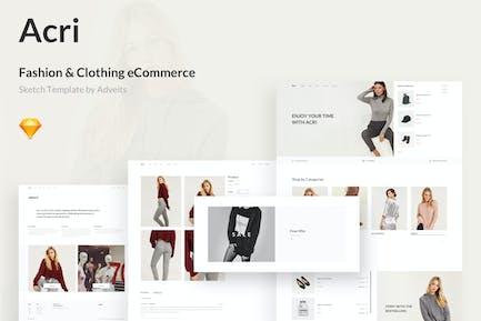 Acri - Fashion & Clothing eCommerce Sketch Templat