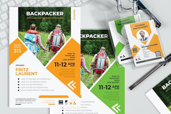 Thumbnail for Backpacker - Plakat und Seminareinladung