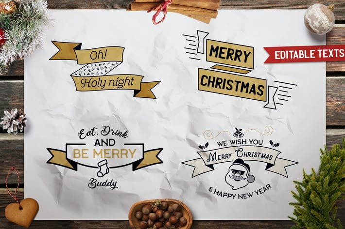 Thumbnail for Christmas Designs Bundle. Vector TShirt Prints SVG
