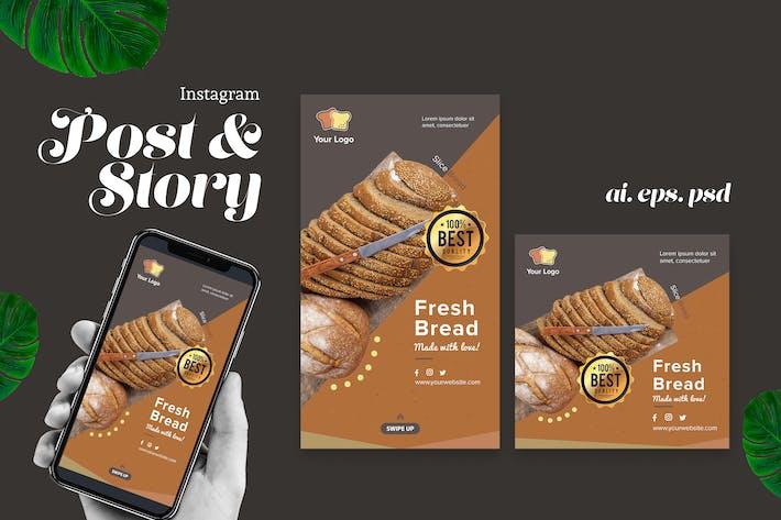 Fresh Bread Instagram Post Story