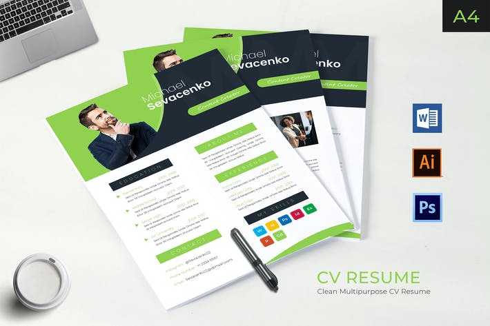 Thumbnail for Business Style Resume Template Vol.01